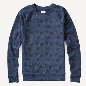 Frank & Oak Navy All Over Floral Crew Sweatshirt